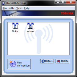 Toshiba Bluetooth Monitor Screenshot