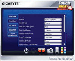 TouchBIOS Screenshot