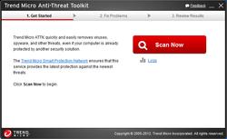 Trend Micro Anti Threat Toolkit Screenshot