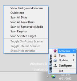 TrustPort Antivirus USB Portable Screenshot