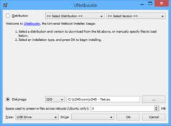 UNetbootin Screenshot