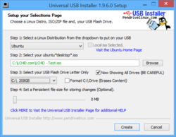 Universal USB Installer Screenshot