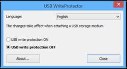 USB WriteProtector Screenshot