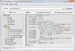 VB Decompiler Screenshot