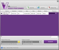 Video Performer Screenshot