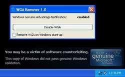 WGA Remover Screenshot