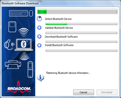 WIDCOMM Bluetooth Software Screenshot