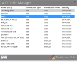 WiFi Profile Manager Screenshot