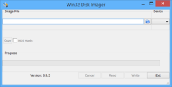 Win32 Disk Imager Screenshot