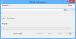 Win32 Disk Imager Screenshot