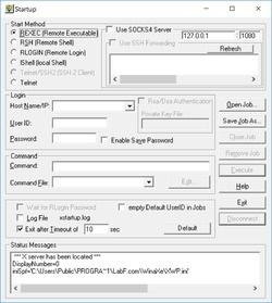 WinaXe Plus SSH X-Server for Windows Screenshot