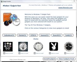 Windows 7 Gadgets Pack Screenshot