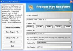 Windows and Office Product Key Viewer Screenshot