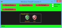 Windows Firewall Console Screenshot