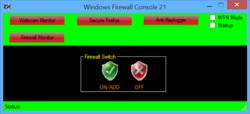 Windows Firewall Console Screenshot