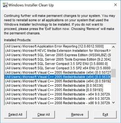 Windows Installer CleanUp Utility Screenshot