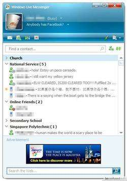 Windows Live Messenger 8.1 Screenshot