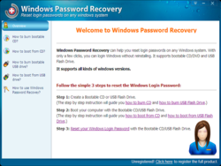 Windows Password Recovery Screenshot