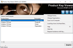 Windows Product Key Viewer Changer Screenshot