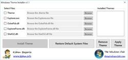 Windows Theme Installer Screenshot