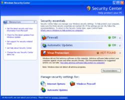 Windows XP SP 3 Screenshot