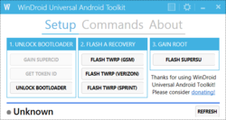 WinDroid Universal Android Toolkit Screenshot