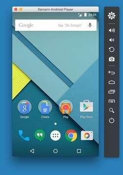 Xamarin Android Player Screenshot