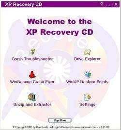 XP Recovery CD Maker Screenshot