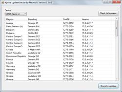 Xperia Updatechecker Screenshot