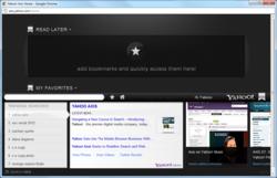 Yahoo Axis Screenshot