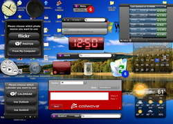 Yahoo Widget Engine Screenshot
