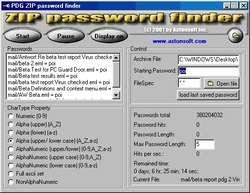 ZIP Password Finder Screenshot