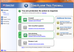 Zone Alarm Free Screenshot