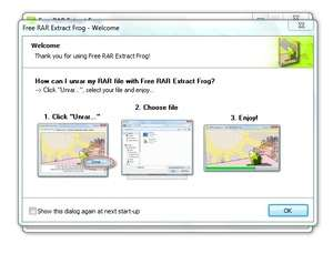 Screenshot of Free RAR Extract Frog 7.00, a RAR extraction app for the Windows operating system.