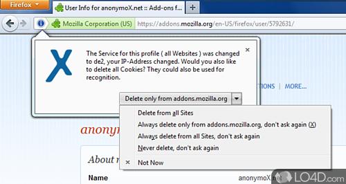 anonymoX - Screenshot 1