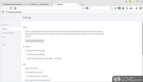 Baidu Browser - Screenshot 3