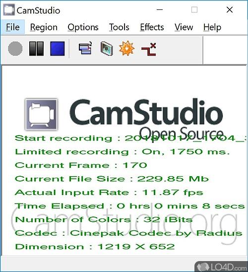 CamStudio - Screenshot 1
