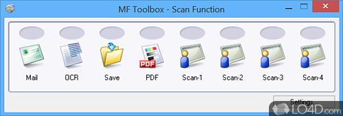 Canon MF Toolbox - Screenshot 1