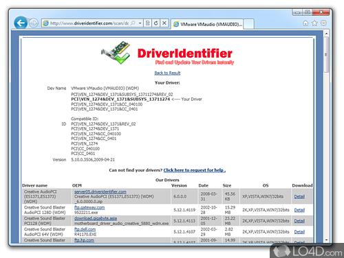 Driver Identifier - Screenshot 1