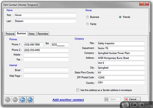 E-Z Contact Book - Screenshot 2