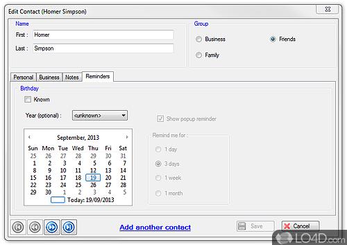 E-Z Contact Book - Screenshot 4