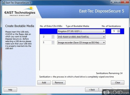 Erase any Hard Drive or Computer Partition Securely EastTec DisposeSecure