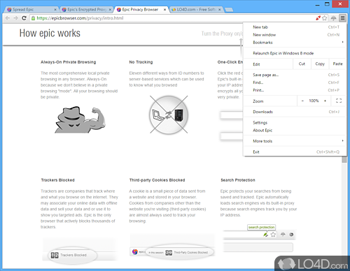 Epic Privacy Browser - Screenshot 3
