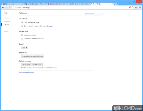 Epic Privacy Browser - Screenshot 4