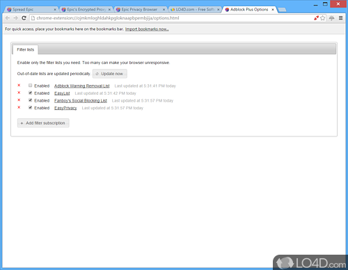 Epic Privacy Browser - Screenshot 6