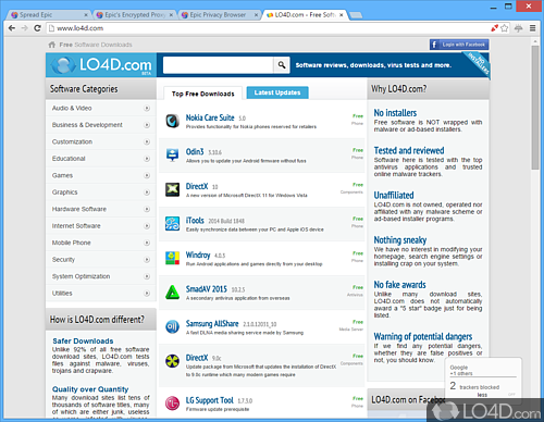 Epic Privacy Browser - Screenshot 1