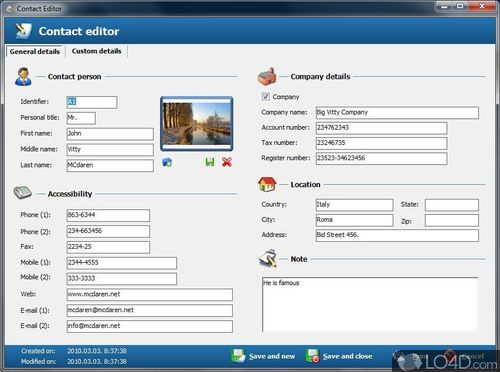 Free Address Book - Screenshot 2