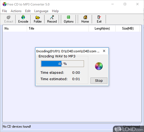 Cd to mp3 converter