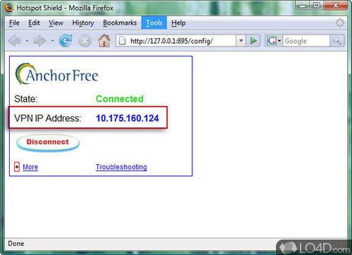 Hotspot Shield - Screenshot 1