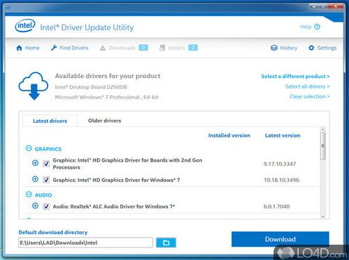 Intel Driver Update Utility - Screenshot 1